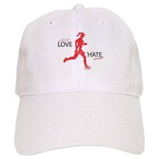 Women's Love Hate Running Baseball Cap