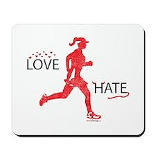 Women's Love Hate Running Mousepad