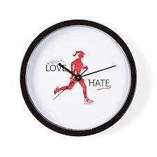 Women's Love Hate Running Wall Clock