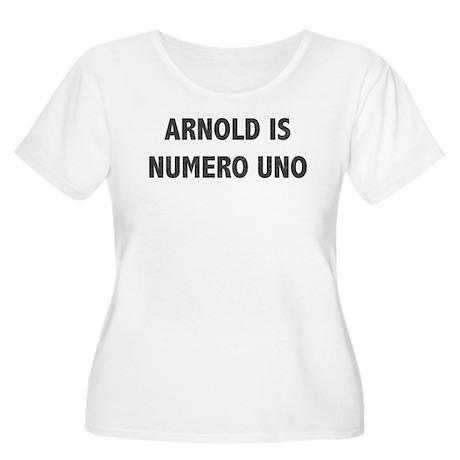 ARNOLD IS NUMERO UNO Women's Plus Size Scoop Neck