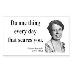 Eleanor Roosevelt 1 Rectangle Decal
