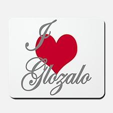 I love (heart) Glozalo Mousepad