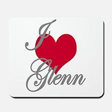 I love (heart) Glenn Mousepad