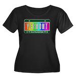 Vermont Women's Plus Size Scoop Neck Dark T-Shirt