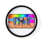 Utah Rainbow Wall Clock
