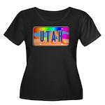 Utah Rainbow Women's Plus Size Scoop Neck Dark T-S