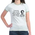 Eleanor Roosevelt 2 Jr. Ringer T-Shirt