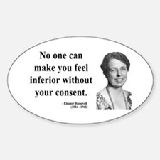 Eleanor Roosevelt 2 Oval Decal