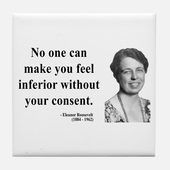 Eleanor Roosevelt 2 Tile Coaster