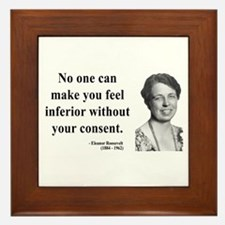 Eleanor Roosevelt 2 Framed Tile