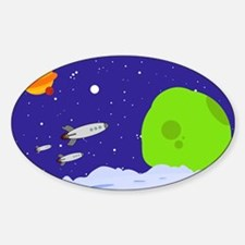 Space Patrol Oval Decal
