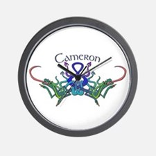 Cameron's Celtic Dragons Name Wall Clock