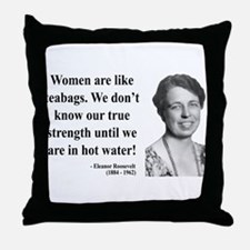 Eleanor Roosevelt 3 Throw Pillow