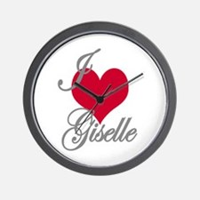 I love (heart) Giselle Wall Clock