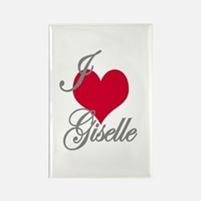 I love (heart) Giselle Rectangle Magnet