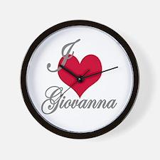 I love (heart) Giovanna Wall Clock