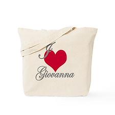 I love (heart) Giovanna Tote Bag