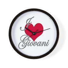 I love (heart) Giovani Wall Clock