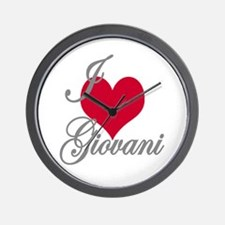 I love (heart) Giovani Wall Clock