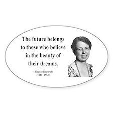 Eleanor Roosevelt 4 Oval Decal