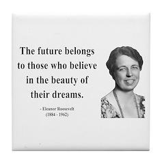 Eleanor Roosevelt 4 Tile Coaster