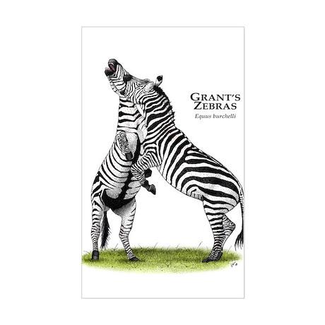Grant's Zebras Rectangle Sticker