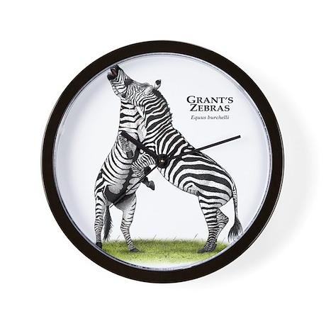 Grant's Zebras Wall Clock