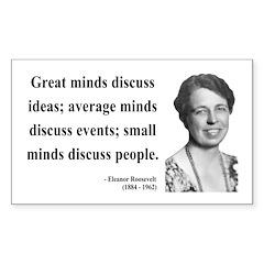 Eleanor Roosevelt 5 Rectangle Decal
