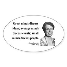 Eleanor Roosevelt 5 Oval Decal