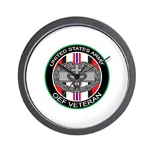 OEF Veteran with CMB Wall Clock