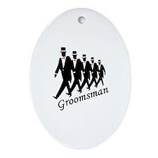 Groomsman Oval Ornament