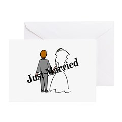 Just Married Greeting Cards (Pk of 10)