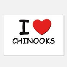 I love CHINOOKS Postcards (Package of 8)