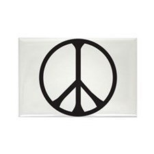 Funny Peace pins Rectangle Magnet