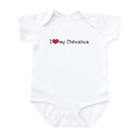 I Love My Chihuahua Infant Bodysuit