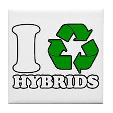 I Heart Hybrids Tile Coaster