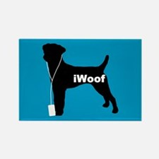 iWoof Parson Russell Rectangle Magnet