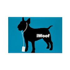 iWoof Bull Terrier Rectangle Magnet