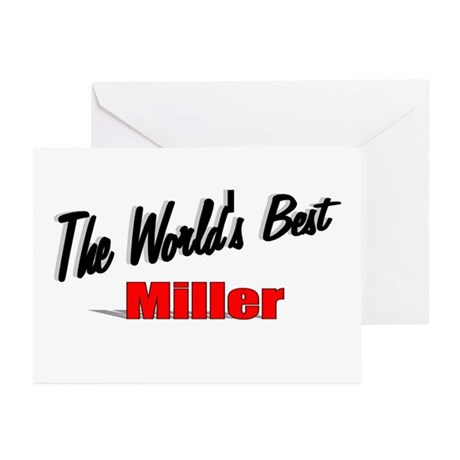 """The World's Best Miller"" Greeting Cards (Pk of 20"