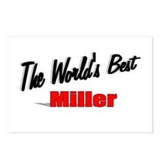 """""""The World's Best Miller"""" Postcards (Package of 8)"""