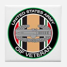 OIF Veteran with CAB Tile Coaster