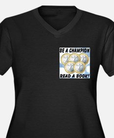 Be A Champion Read A Book Women's Plus Size V-Neck