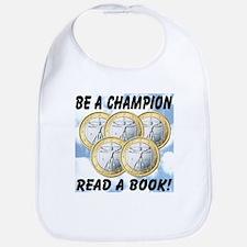Be A Champion Read A Book Bib