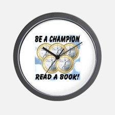 Be A Champion Read A Book Wall Clock