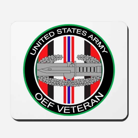 OEF Veteran with CAB Mousepad