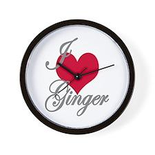 I love (heart) Ginger Wall Clock