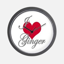 I love (heart) Ginger Wall Clock