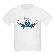 Bruce's Celtic Dragons Name Kids T-Shirt