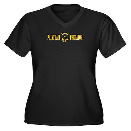 Paintball Predator Women's Plus Size V-Neck Dark T