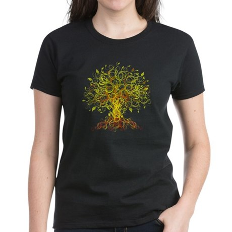 abstract tree Women's Dark T-Shirt